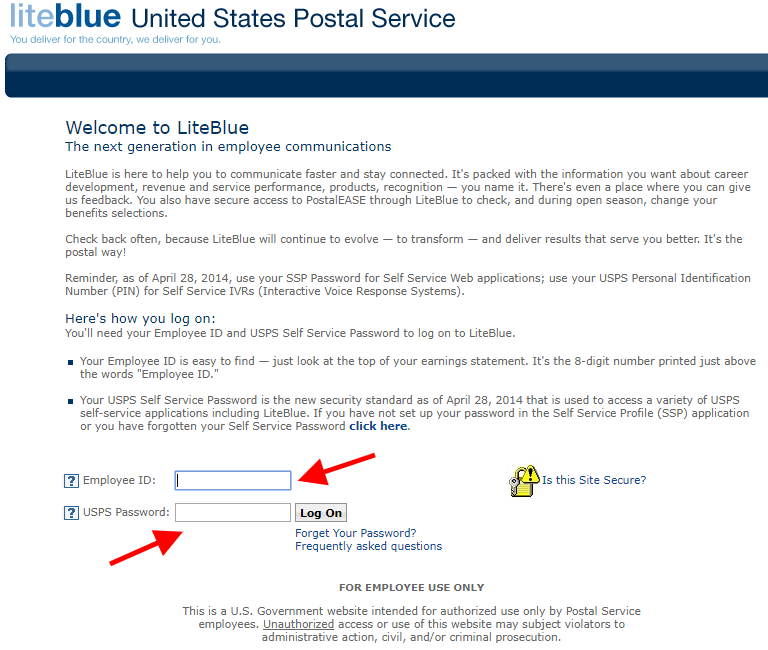 USPS LiteBlue Phone Number To Change Address For Postal Employees
