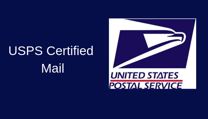USPS Certified Mail USPS Certified Mail