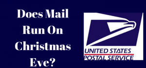 does mail run on christmas eve